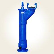 Hidrant subteran A.I. 1.25m - cot cu picior - cutie protectie DN100