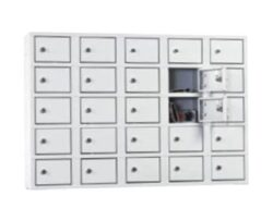 Dulap metalic de perete pentru valori cu 25 compartimente BOX