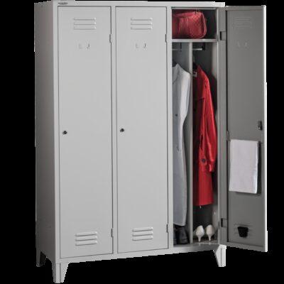 Vestiar metalic cu perete despartitor 3 compartimente PROJECT 3FF
