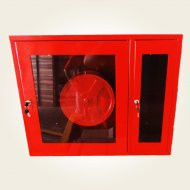Cutie hidrant cu locas pt stingator, geam, suport furtun