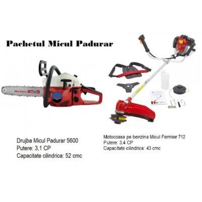 Pachetul Micul Padurar Drujba Micul Padurar 5600 + Motocoasa Micul Fermier 712