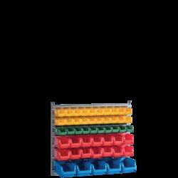 Standuri de organizare avand in dotare cutii SORTIMENT WALL 49